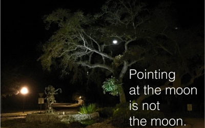Pointing at the moon is not the moon.